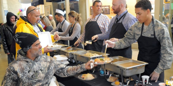 Serving the homeless on Thanksgiving