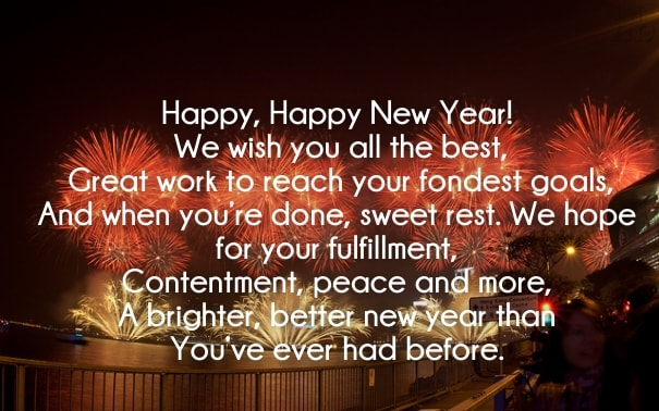 New Year Poem in English