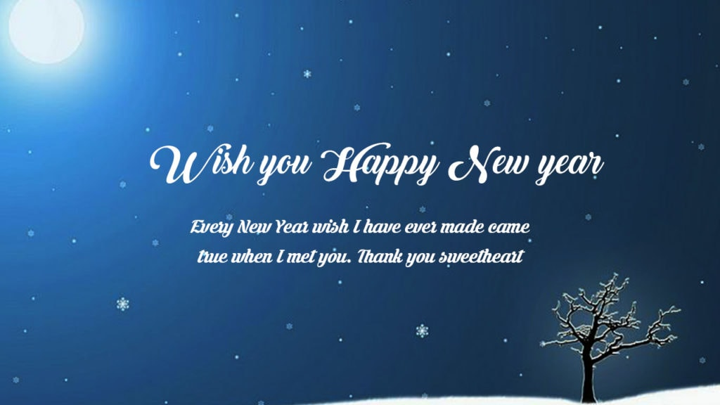 happy new year quotes in English for lover