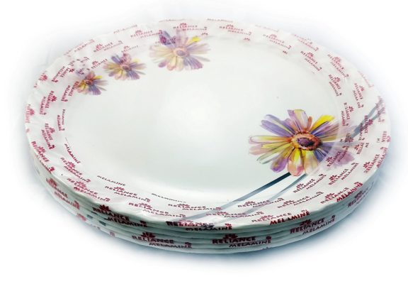 Indus Set of 6 Pcs Melamine Full Size Plates 11Inch With Flower Design - IN4