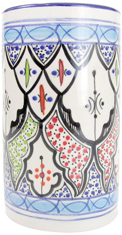 Le Souk Ceramique TIB58 Stoneware Utensil/Wine Holder, Tibarine
