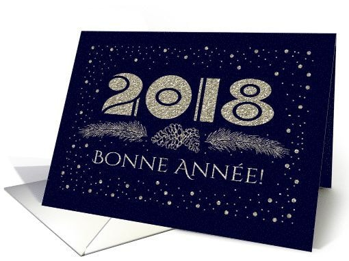 Happy New Year 2018 Greetings in French Language