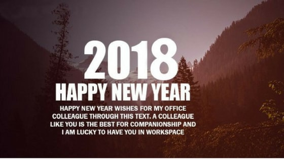 Happy New Year Wishes for Boss and Colleagues for 2018