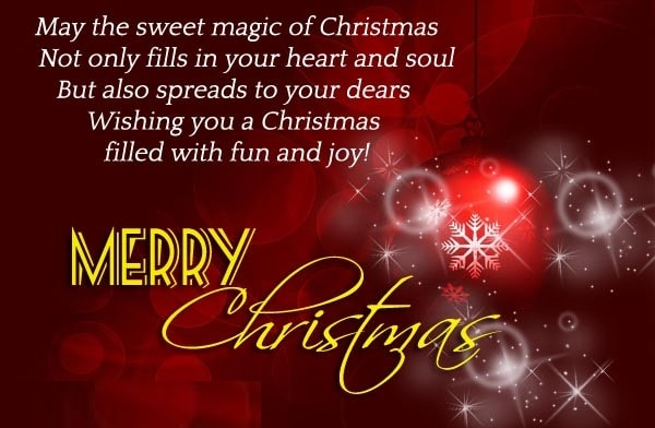 Merry Christmas Wishes Text for Girlfriend