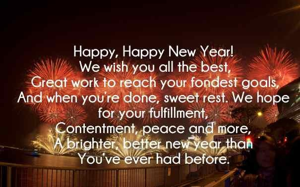 Happy New Year Facebook Status Images 2018