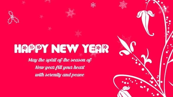 Happy New Year Wishes for Elders for 2018