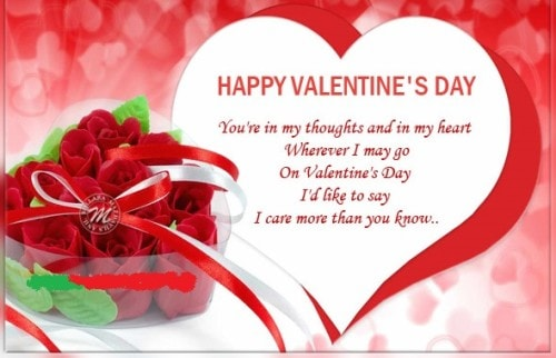 Romantic Valentine's Day Wishes for Wife 2018