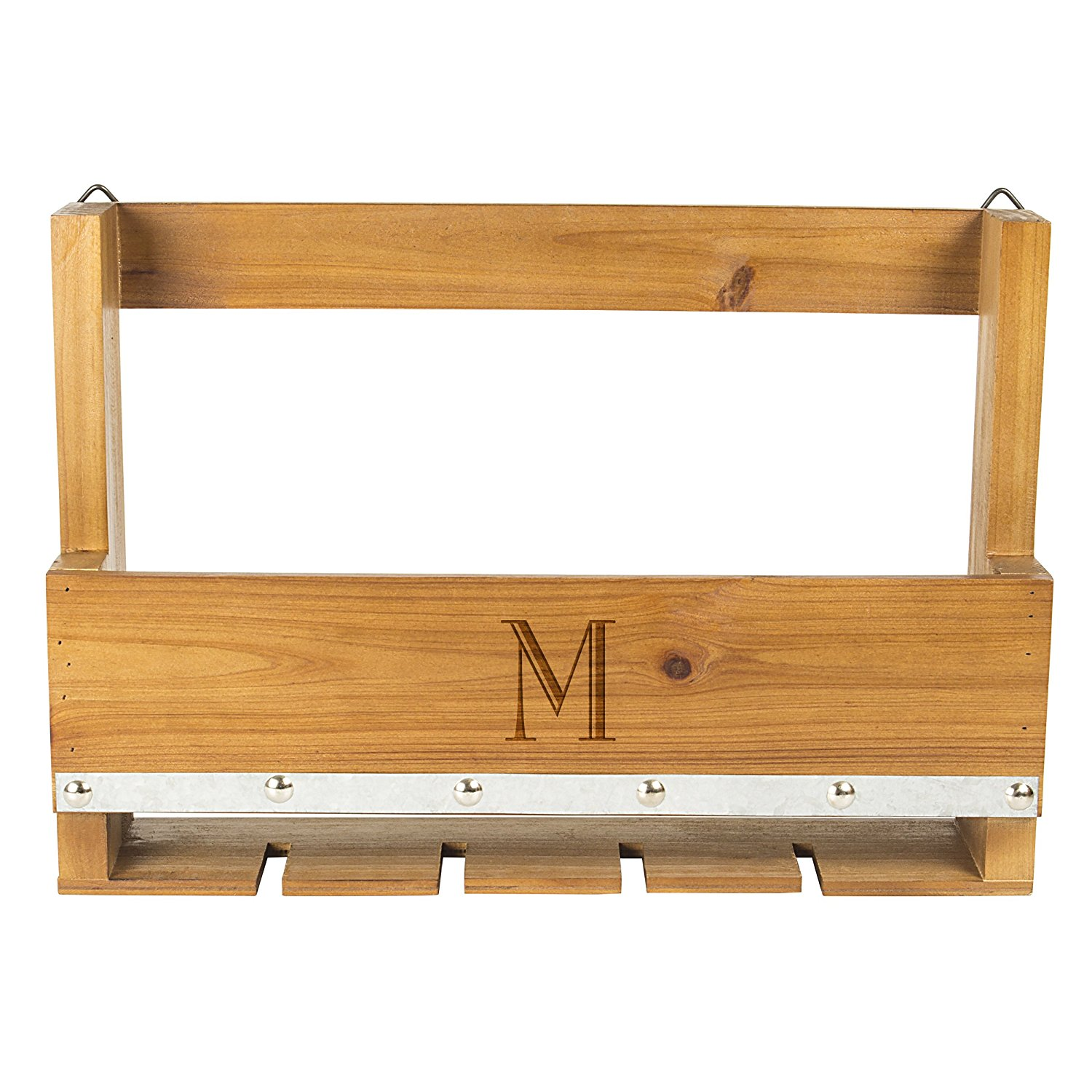 Cathy's Concepts M Personalized Rustic Wine Rack