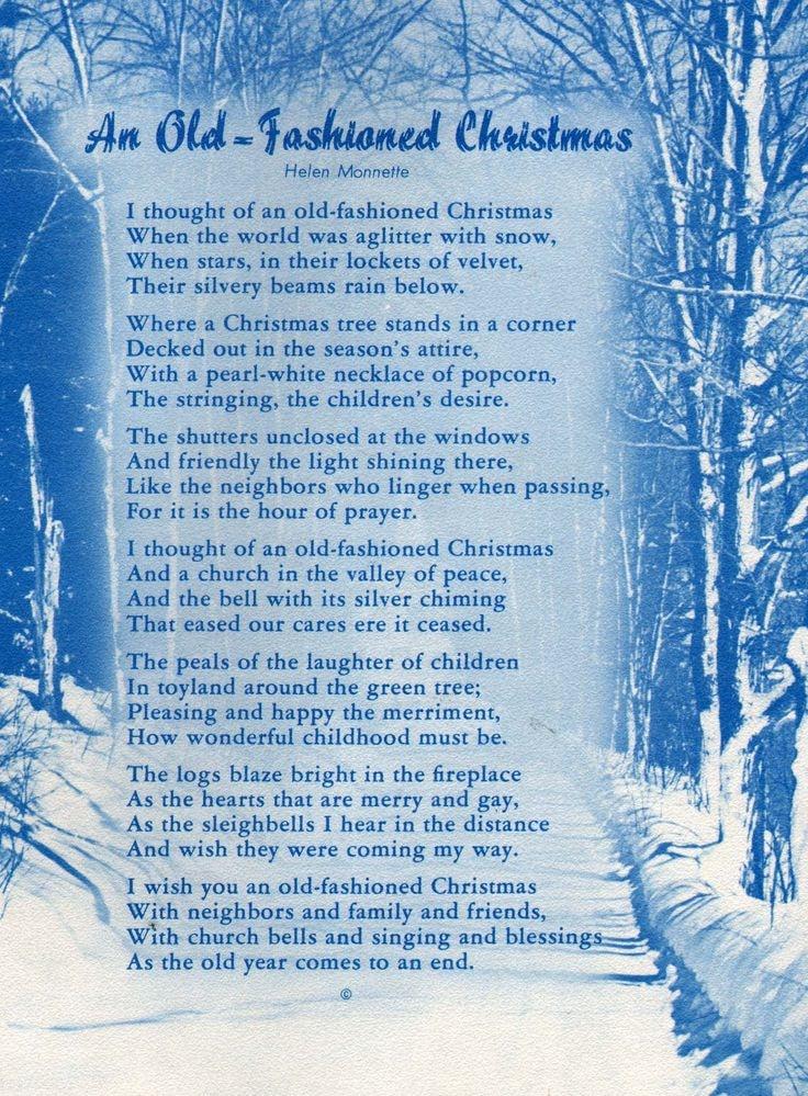 Christmas poems old English