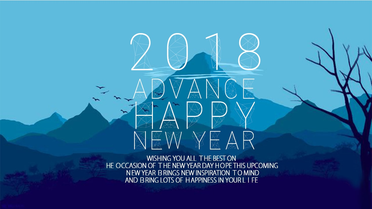 Advance Happy New Year HD Wallpaper for 2018