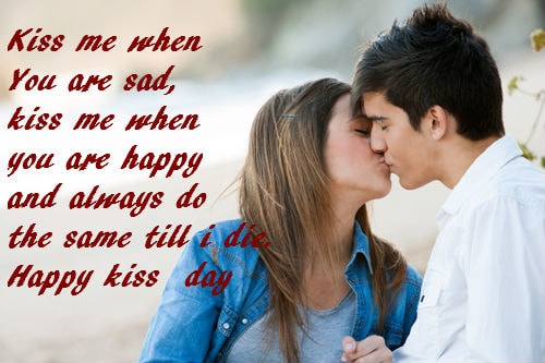 Kiss day Quotes for Girlfriend for 2018