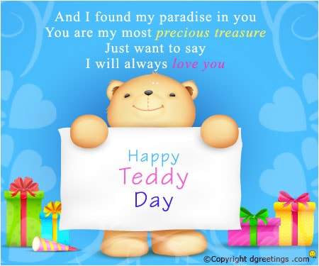 Happy Teddy Day Wishes for Girlfriend